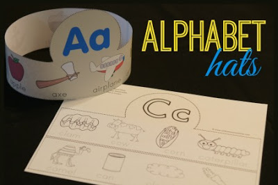FREE Alphabet Printable Hats | 123 Homeschool 4 Me