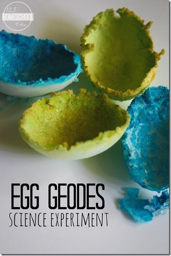 Try this fun and easy Crystal Egg Geodes Experiment for a fun, yet simple science experiment that engages children in learning the steps of the scientific method. This eggshell geode science fair project is perfect for toddler, preschool, pre-k, kindergarten, first grade, and 2nd grade students. All you need are a few simple materials for this egg science experment that will help get kids excited about science!