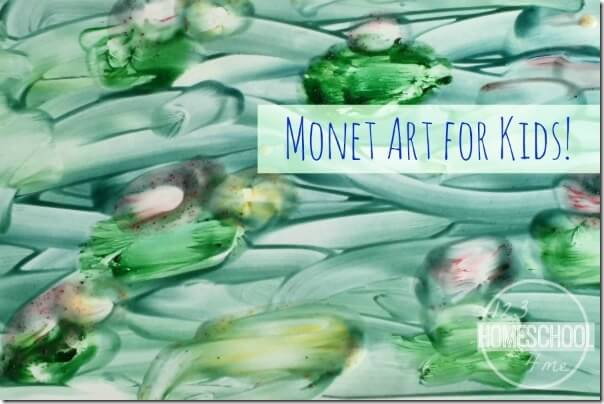 monet art project for kids