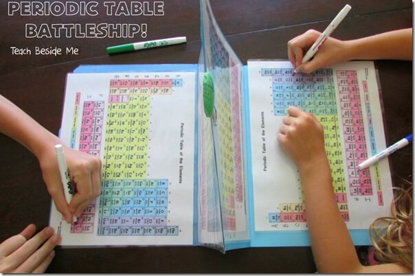 FREE Science Game - Periodic table battleship is such a fun way to introduce and engage kids in the science periodic table (homeschool)