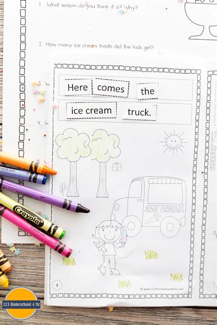 sentence practice for kindergarten, first grade, 2nd grade