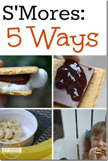 Smores Recipes - 5 fun ways to make smores that your kids will love over a backyard firepit or camping with kids. Yummy!