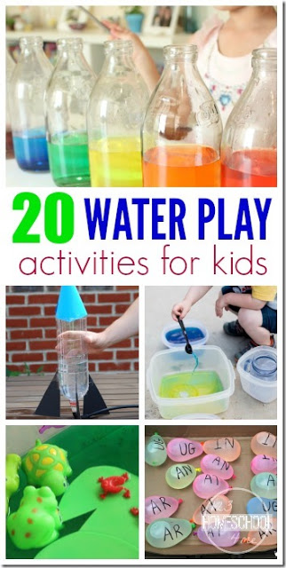 20 water play activities for kids - LOTS of creative, fun, and unique summer activities for kids using water for kids from toddler, preschool, and kindergarten to elementary age kids too! #kidsactivities #summeractivities #summerbucketlist