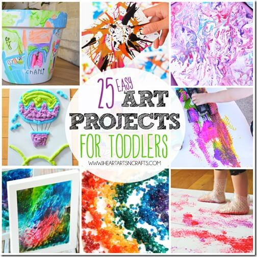 25 Easy Art Projects for Young Kids - so many really creative and fun painting ideas for toddler, preschool and kindergarten age kids