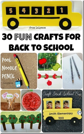 30 back to school crafts for kids - these are such fun ideas for august, september