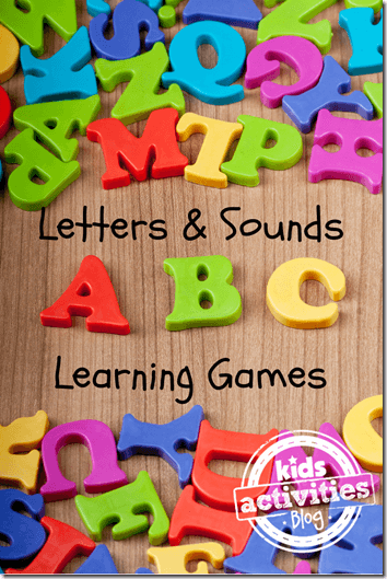 35 Alphabet Letters and their Sounds Learning Games for Kids - Great resource for Preschool and Kindergarten kids