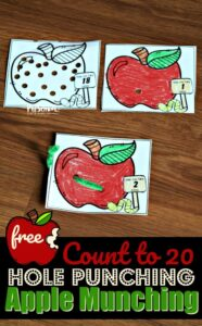 Count to 20 Hole Punching Apple Munching