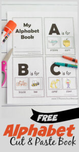 cut and paste alphabet book to help young learners learn the sounds letters make and work on phonemic awareness