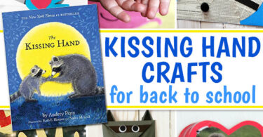 """Read back-to-school """"The Kissing Hand"""" book then try these activities or crafts perfect for the first day with preschool & kindergarten!"""