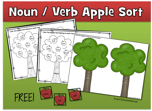 Noun and Verb Apple Trees
