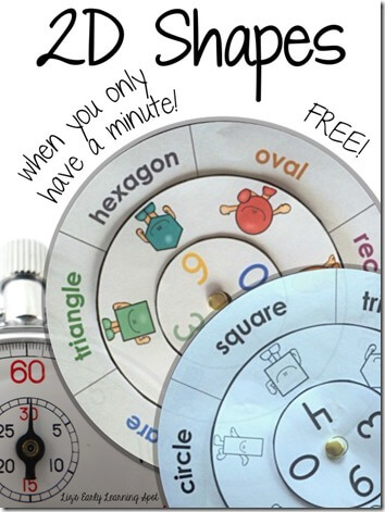 FREE Shape Printable Activity - this is so cute and such a fun concept for a quick math activity or math center. Great for Preschool, Kindergarten, and 1st grade kids. (homeschool math)