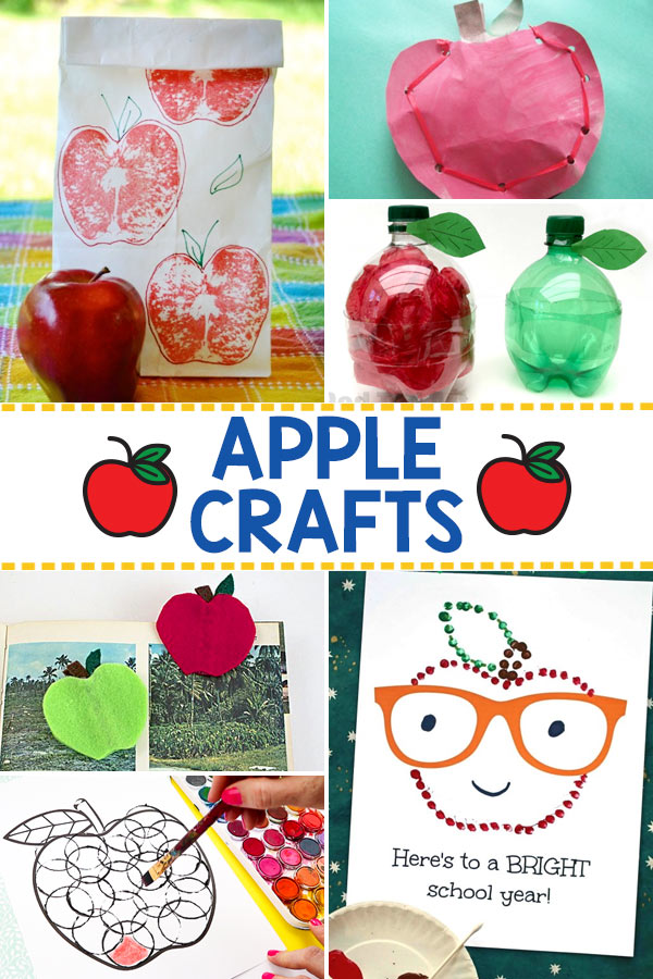 Apple Themed Back to School Crafts