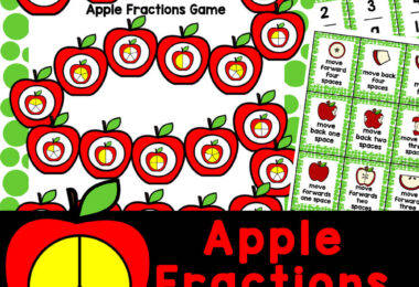Hands-on Apple Fraction Game to work on equivalent fractions with an apple mathactivity for September! Perfect for 1-5th grade