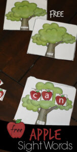 Apple Sight Words Activity