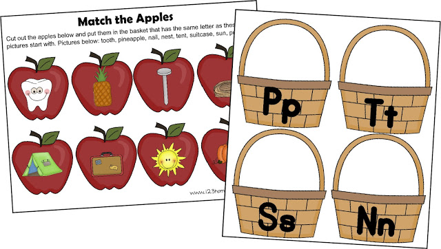Letter A Apple Sort