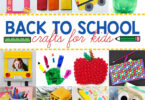 Let's celebrate the start of a new school year with these 50 fabulous back to school crafts for preschool, pre k, kindergarten, grade 1, grade 2, and grade 3 students! We have tons of super cute back to school ideas for your first day of school.