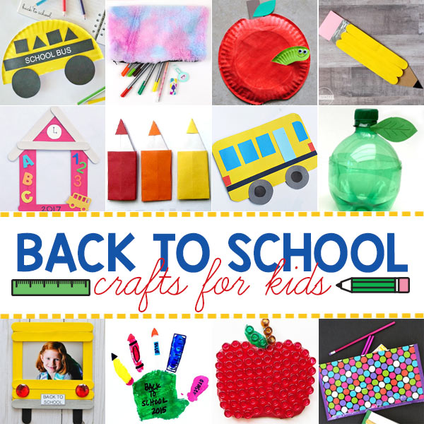 We have tons of really cute and fun to make first day of school crafts for preschoolers, kindergartners, first graders, 2nd graders, and 3rd graders. Whether you are a parent, teacher, or homeschooler -you will love these fun back to school activities for kids of all ages!