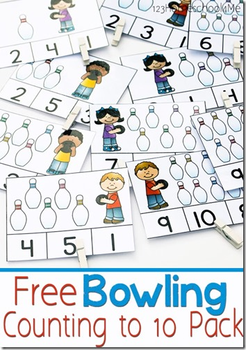 Practicing counting to 10 with four FREE printable games. These fun count to 10 activities for preschoolers are great for learning numbers 1 to 10.