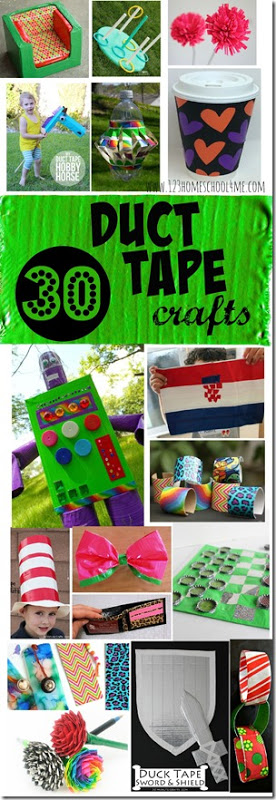 Whenever I walk by the duct tape aisle I want to buy some. It comes in so many fun colorful patterns and styles! But what would I do with all that duct tape? Here are more than 30 duct tape crafts for kids! Theseduct tape projects are perfect for toddler, preschool, pre-k, kindergarten, first grade, 2nd grade, and 3rd graders. We haveduct tape crafts from glames to coffee cup holders, robots, bracelets, and so many more!