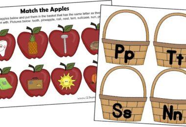 Letter A Apple Sort