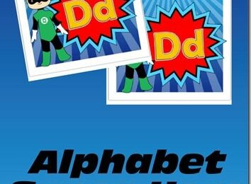 Alphabet Super Hero Memory Game