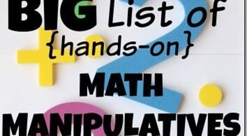 BIG List of Hands-on Math Manipulatives