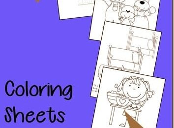 Goldilocks and the 3 Bears Coloring Sheets
