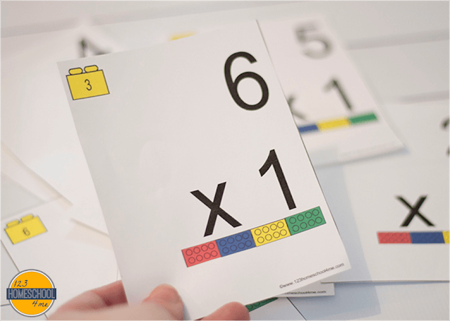 Lego Multiplication Flashcards