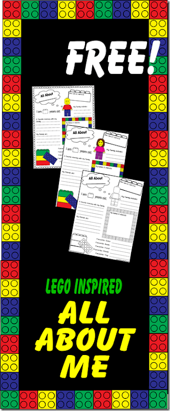 FREE Lego All About Me Worksheet - These free printable back to me worksheets are super cute! Great for Preschool, Kindergarten, 1st grade, 2nd grade, 3rd grade, 4th grade, 5th grade, and 6th grade kids to remember what their interests hobbies and writing looks like at this moment in time! (homeschool back to school)