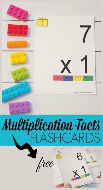 photograph about Multiplication Flash Cards Printable Front and Back called Cost-free Lego Multiplication Flashcards 123 Homeschool 4 Me