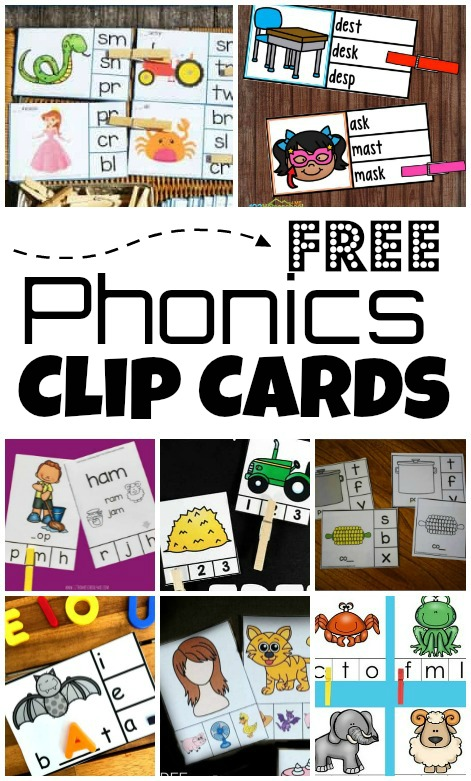 phonics clip cards activities