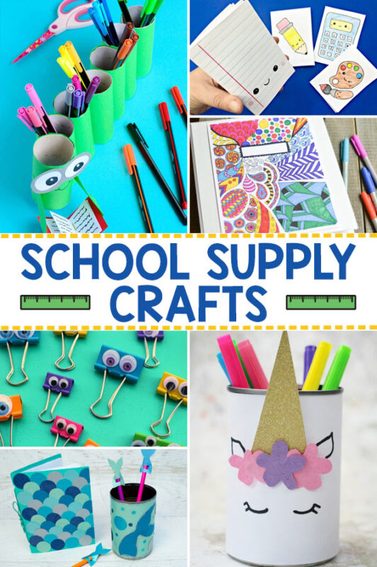 School Supply Crafts for Kids