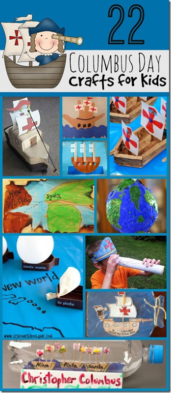 Great ready to celebrate Columbus Day on October 12th with these super cute, fun, and clever Columbus day crafts for kid from toddler, preschool, pre k, kindergarten, and first grade students. These are such a fun extension to a history lesson on early explorers talking about how Columbus sailed the ocean blue in 1492.