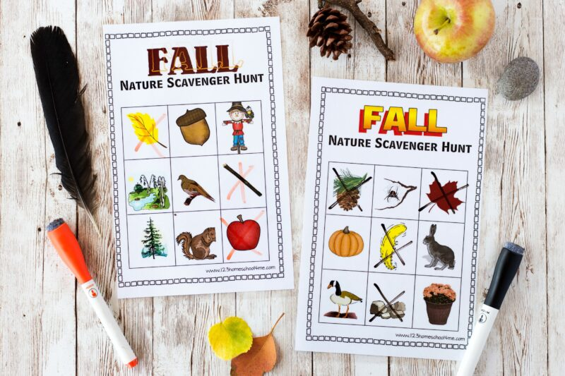 Kindergarten Nature Scavenger Hunt