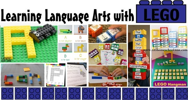 Learning Language Arts and Alphabet Letters with Lego