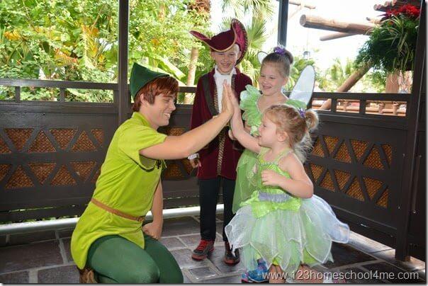 Memorable Character Interactions like Peter Pan at Disney World