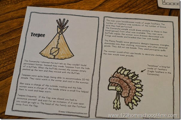 Native Americans - Plain Tribes Unit for Elementary Homeschool Kids. Lots of hands on learning ideas plus FREE mini books and worksheets for kids.