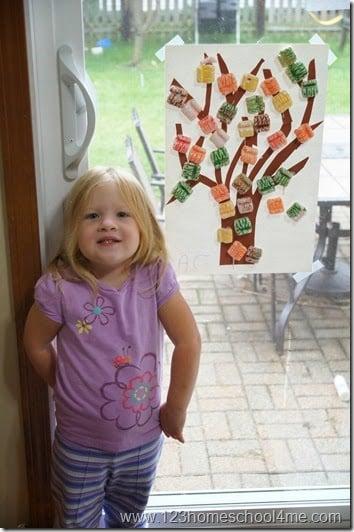 fall leaf craft for preschoolers