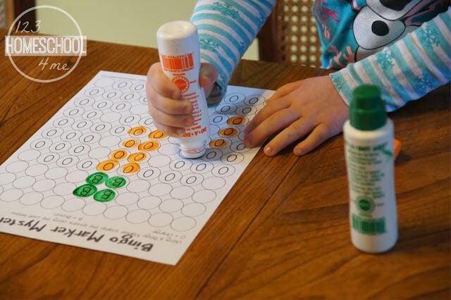 Bingo Marker Letter Mystery Picture Worksheets