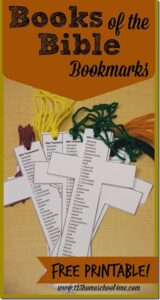 Books of the Bible BOokmark printable