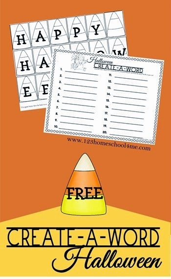 FREE Create-A-Word Halloween - This is such a fun, simple idea to help kids practice making words! Great for K-6th grade. (spelling)