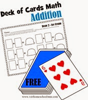 deck of cards math - addition worksheets