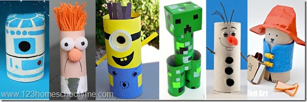 favorite character toilet paper roll crafts