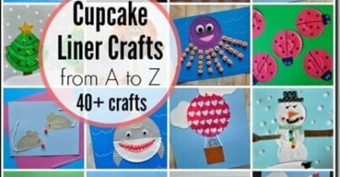 Alphabet Crafts using Cupcake Liners