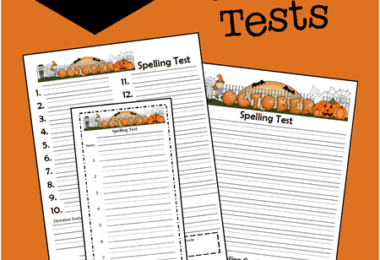 FREE October Spelling Tests