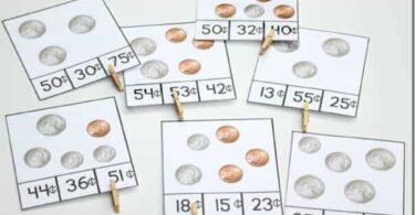 Coin Value Clip Cards