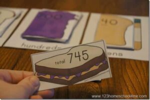 Place Value Peanut Butter & Jelly Math Sandwiches
