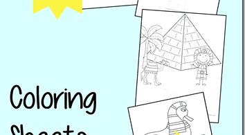 Ancient Egyptian Coloring Sheets