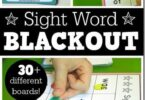 BLACKOUT Sight Word Games