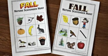 Fall Nature Scavenger Hunt